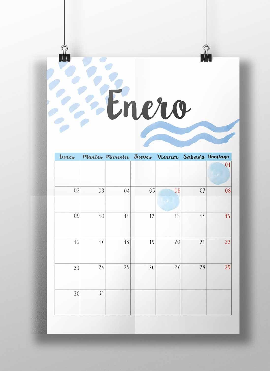Imprimible calendario 2017 | calendario 2017 | Pinterest ...
