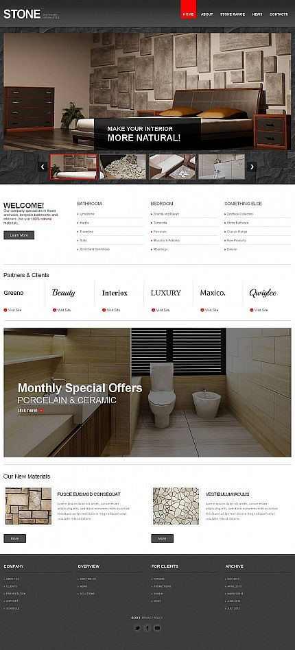 Flooring Website Template With Jquery Slideshow Gallery