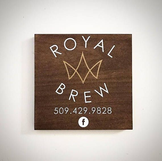 0a35fcc84737c Custom Wood Small Business Logo Sign - 9.5x9.5 Support Local Sign ...