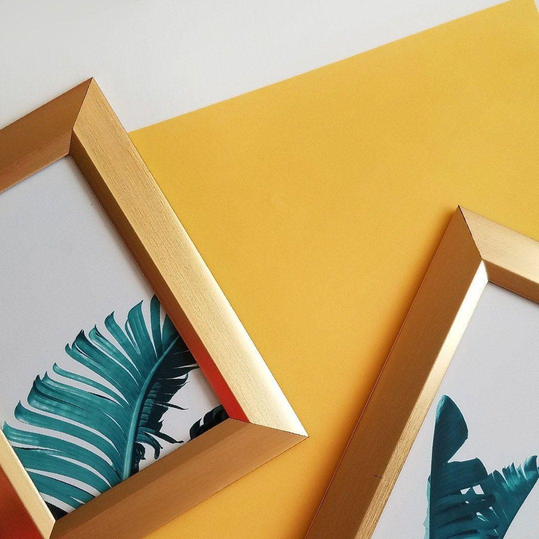 Minimalist photography art print, tropical leaves wall art, jungle ...