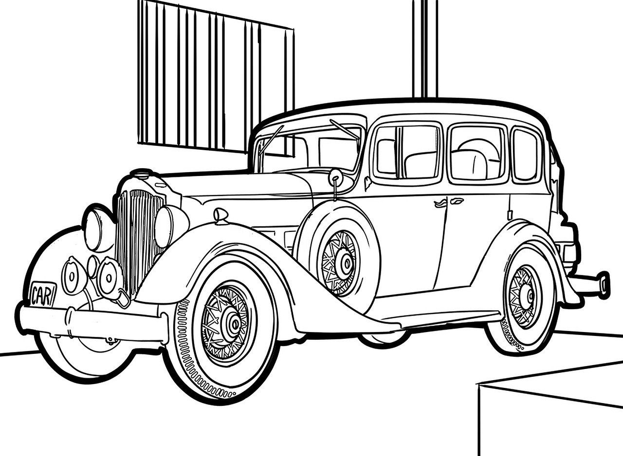 Free Image On Pixabay Oldtimer Drawing Auto Design Coloring Pages Drawings Auto