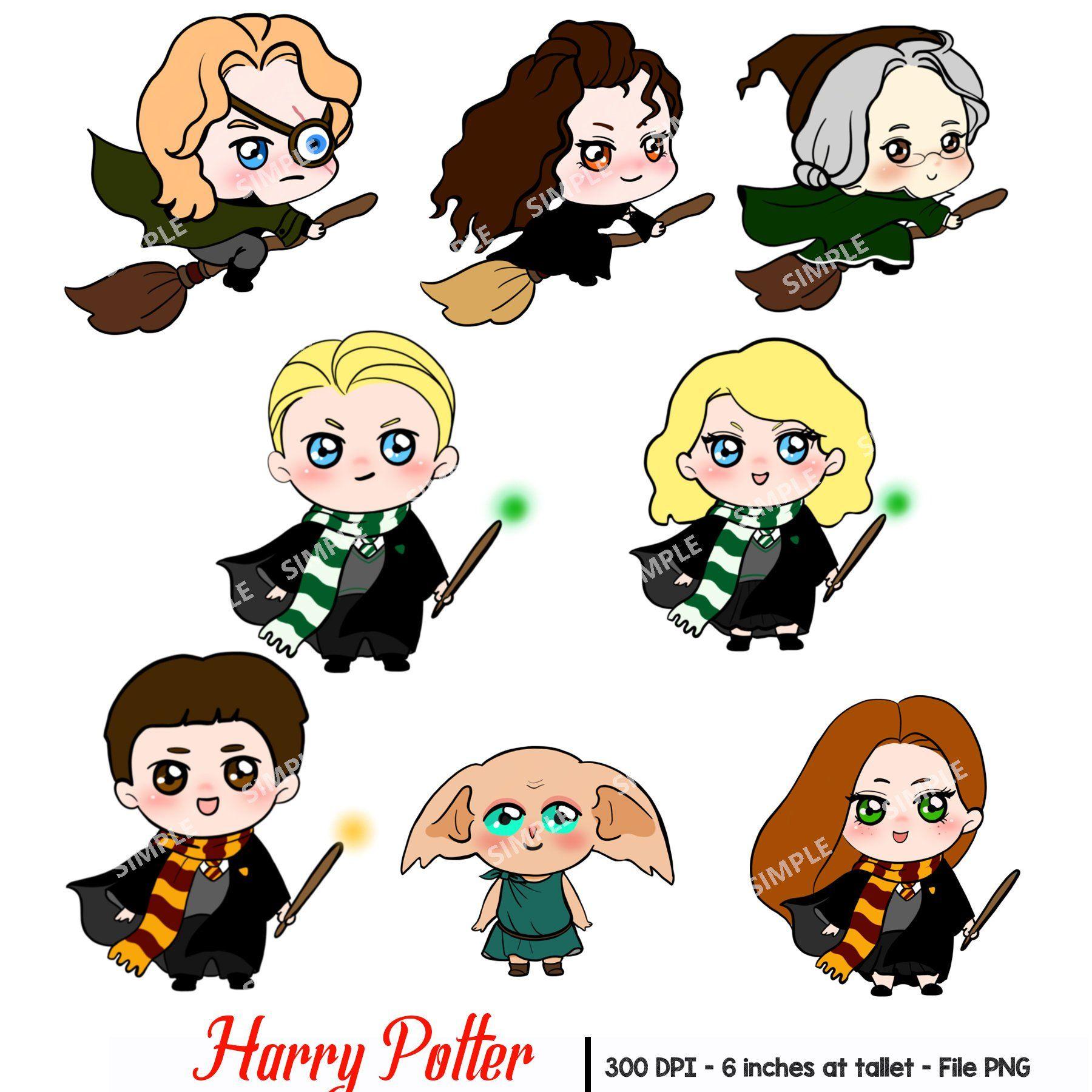 Valuable Design Harry Potter Clip Art Star Clipart - Harry Potter Kawaii,  HD Png Download - 651x537(#1665538) - PngFind