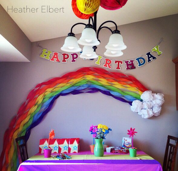 Super Bowl Party Decorations Uk: Rainbow Party: GlamLuxePartyDecor: FREE SHIPPING! Creative