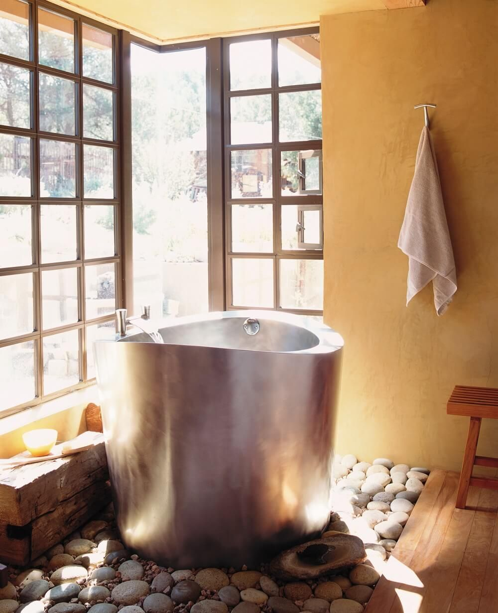 Salle De Bain Japonaise ~ stainless steel circular japanese soaking bath 42 round x 35