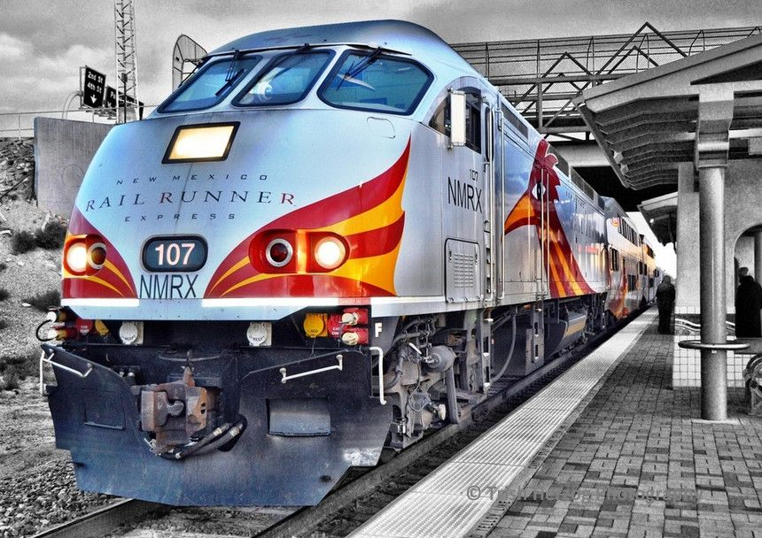 The Rail Runner will get you from downtown ABQ to Santa Fe