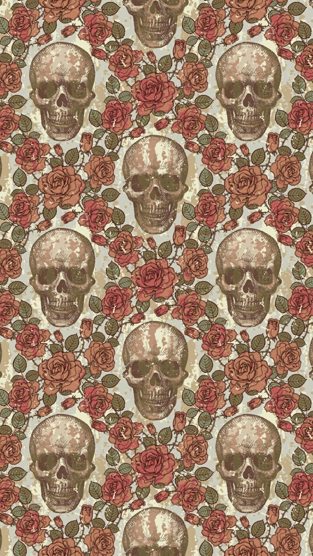 skull wallpaper. would make for an awesome accent wall in a small
