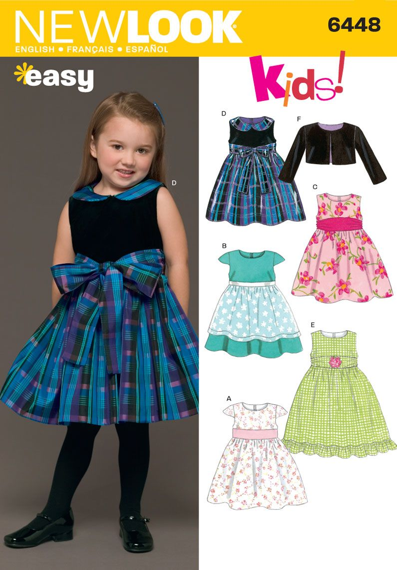 Toddlers dress and jacket sewing pattern 6448 new look bady girl toddlers dress and jacket sewing pattern 6448 new look jeuxipadfo Choice Image