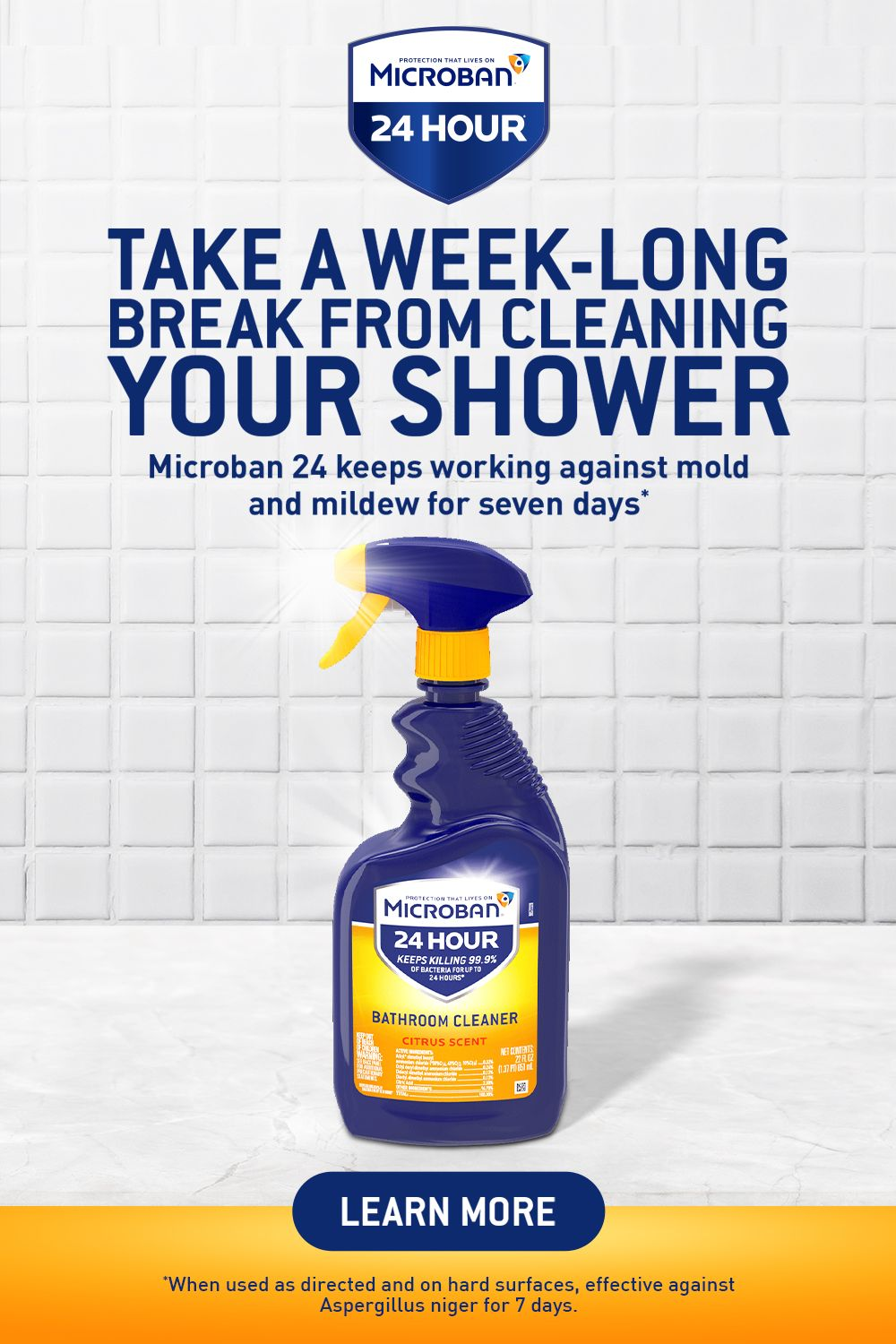 7 Days Of Mold Mildew Protection In Your Shower With Microban 24 In 2020 Household Cleaning Tips Diy Home Cleaning House Cleaning Tips