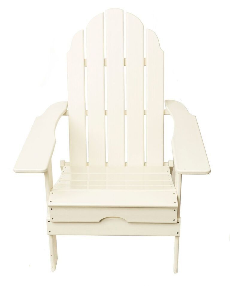 Bon Folding Polywood Recycle Hard Plastic Adirondack Chair