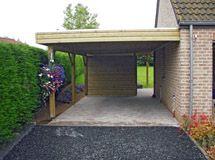 Carport Toit Plat Avec Brise Vue Import Garden Palette Pinterest