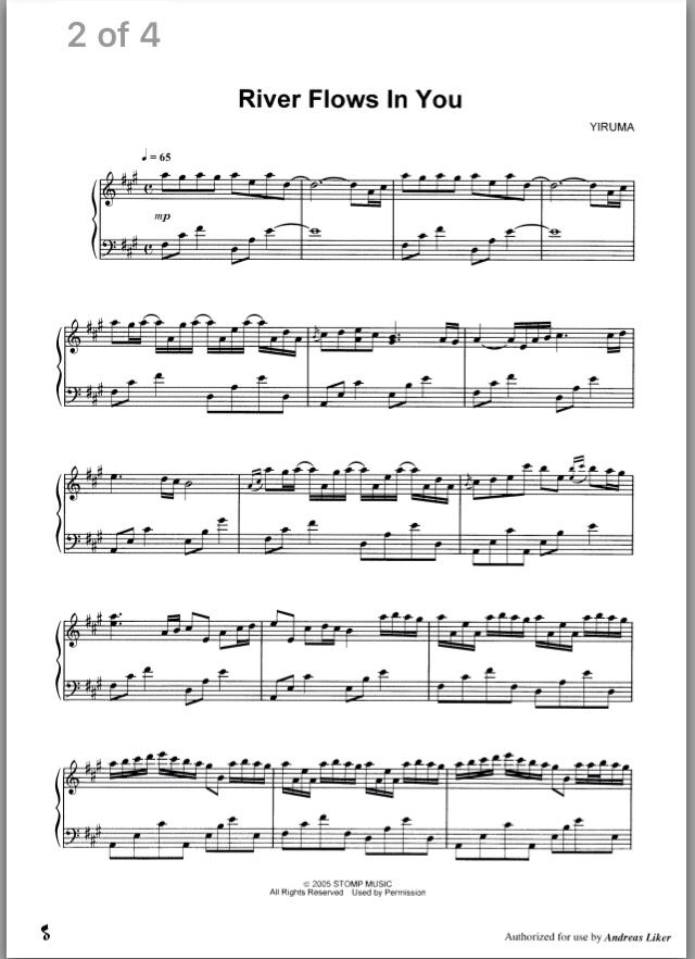 All Music Chords sheet music for river flows in you : River Flows in You part 1/3 | Music | Pinterest | Flow