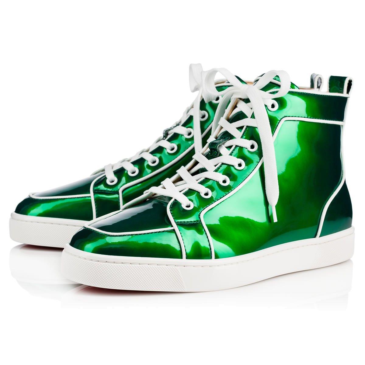 905132808e9e CHRISTIAN LOUBOUTIN Rantus Orlato Men s Flat Green Latte Patent - Men Shoes  - Christian Louboutin.  christianlouboutin  shoes