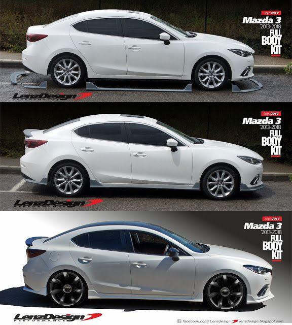Mazda 3 Bm Axela Lenzdesign Bodykit Spoilers 2013 2014 2015 2016 2017 2018 Mazda 3 Sedan Mazda 3 Touring Mazda 3