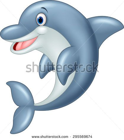 Dolphin Cartoon Stock Photos Images Pictures Cartoon Illustration Dolphins Rock Painting Patterns