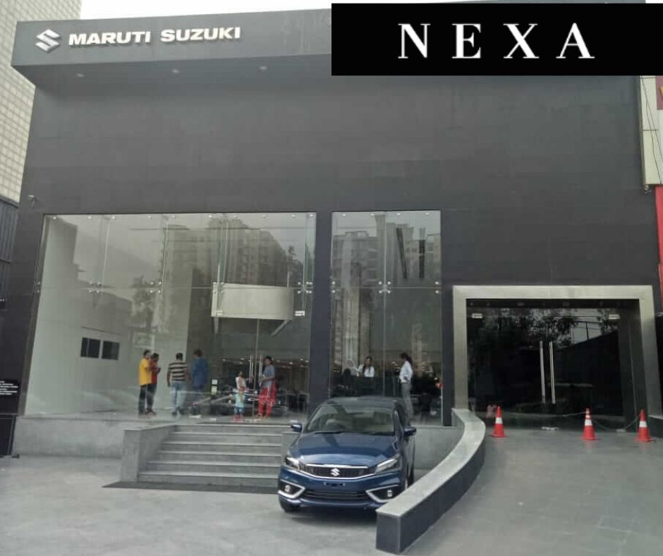 "Searching for car online by typing ""Maruti Suzuki Nexa"