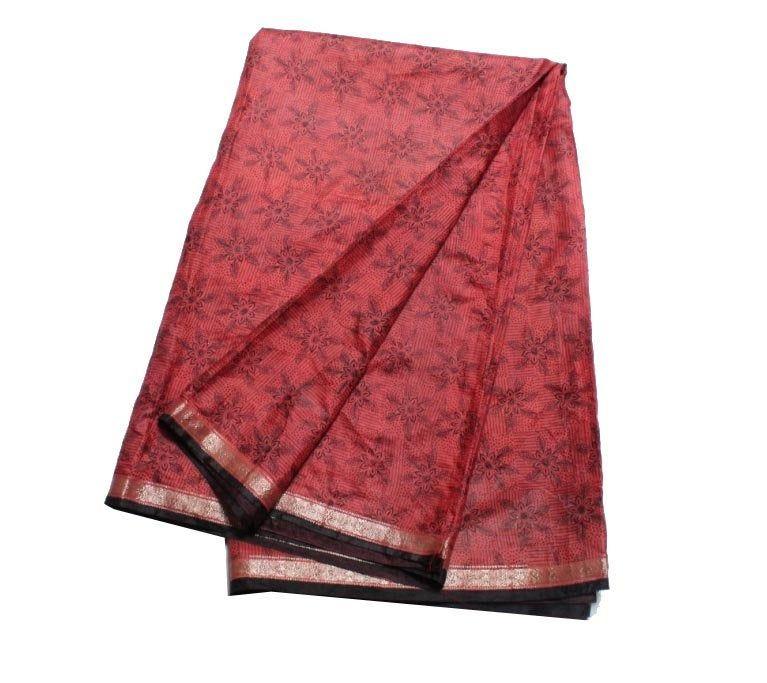 Vintage Silk Sari Indian Vintage Pure Silk Sari Long Floral Printed Ethnic Culture Sari 5 Yrd Women/'s Decorative Traditional Pure Silk Sari