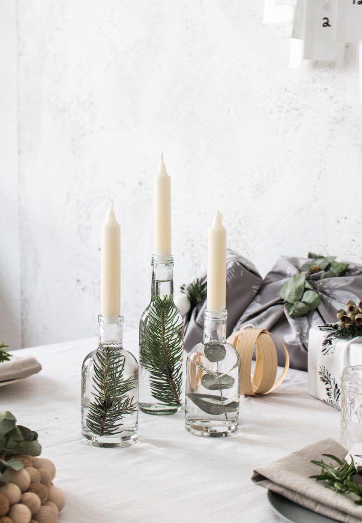 Weihnachtliche Flaschenpost | monochrome
