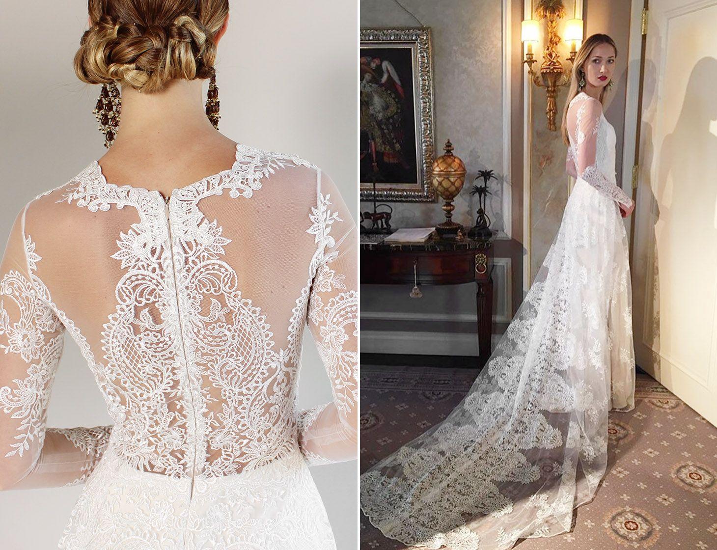 Romantique by Claire Pettibone Pasadena Lace Wedding Dress | Haute ...