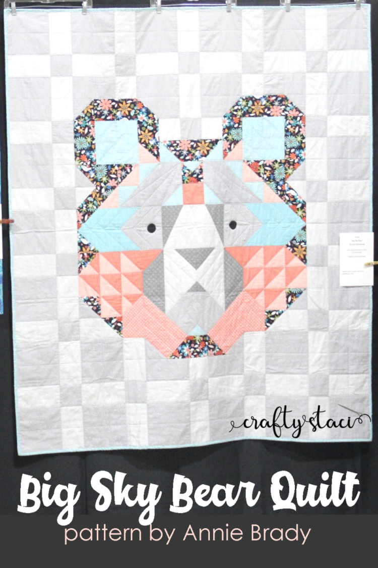 Big Sky Bear Quilt Quilting Designs Handmade Baby Quilts Bear Quilts