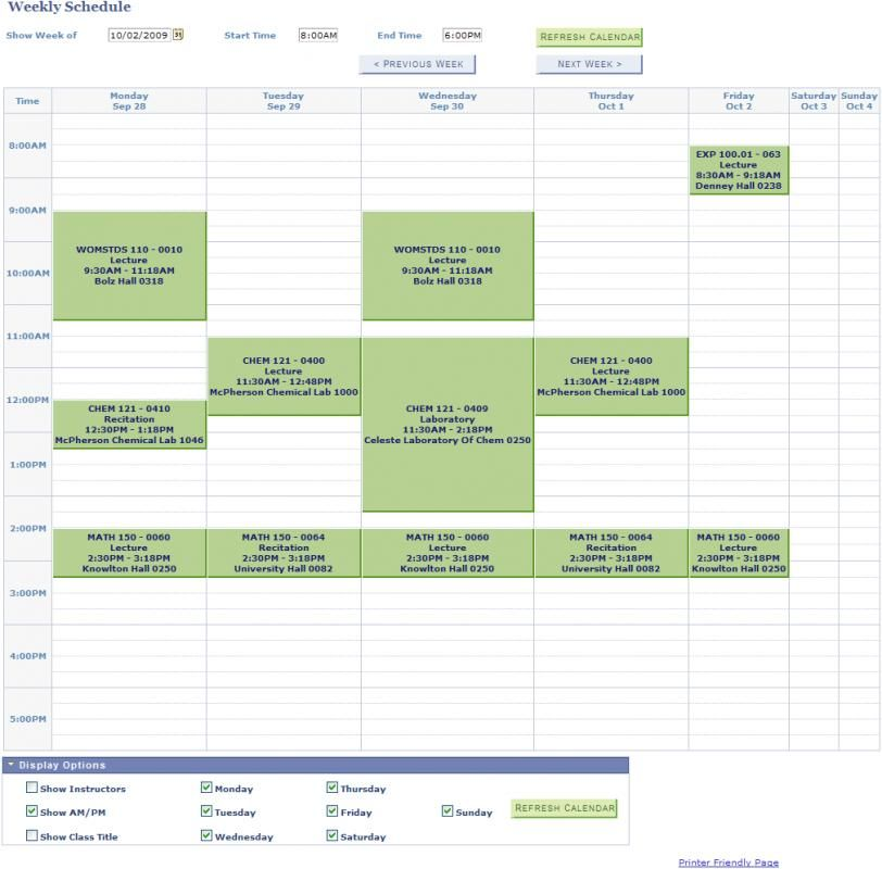 Pin On Class Schedule College