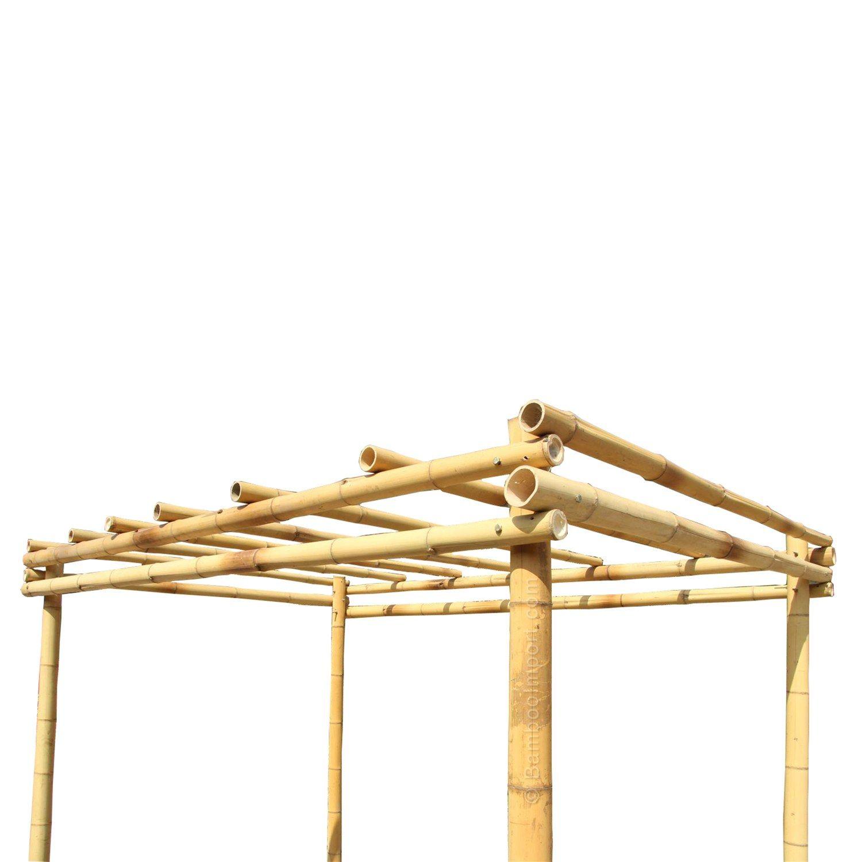 Bamboo Pergola Moso 3 x 4 m en 2020 Techo de bambú