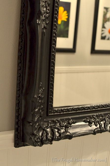 How To Spray Paint A Mirror Frame, What Paint To Use On Metal Mirror Frame