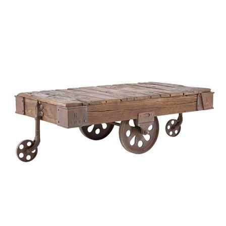 Kare Design Furniture Cart Coffee Table Coffee Table Wood Barn Table
