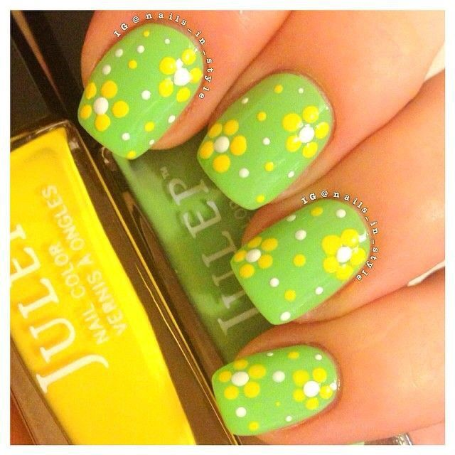 between St. Paddy\'s and Easter? Or will I be tired of green? | uñas ...