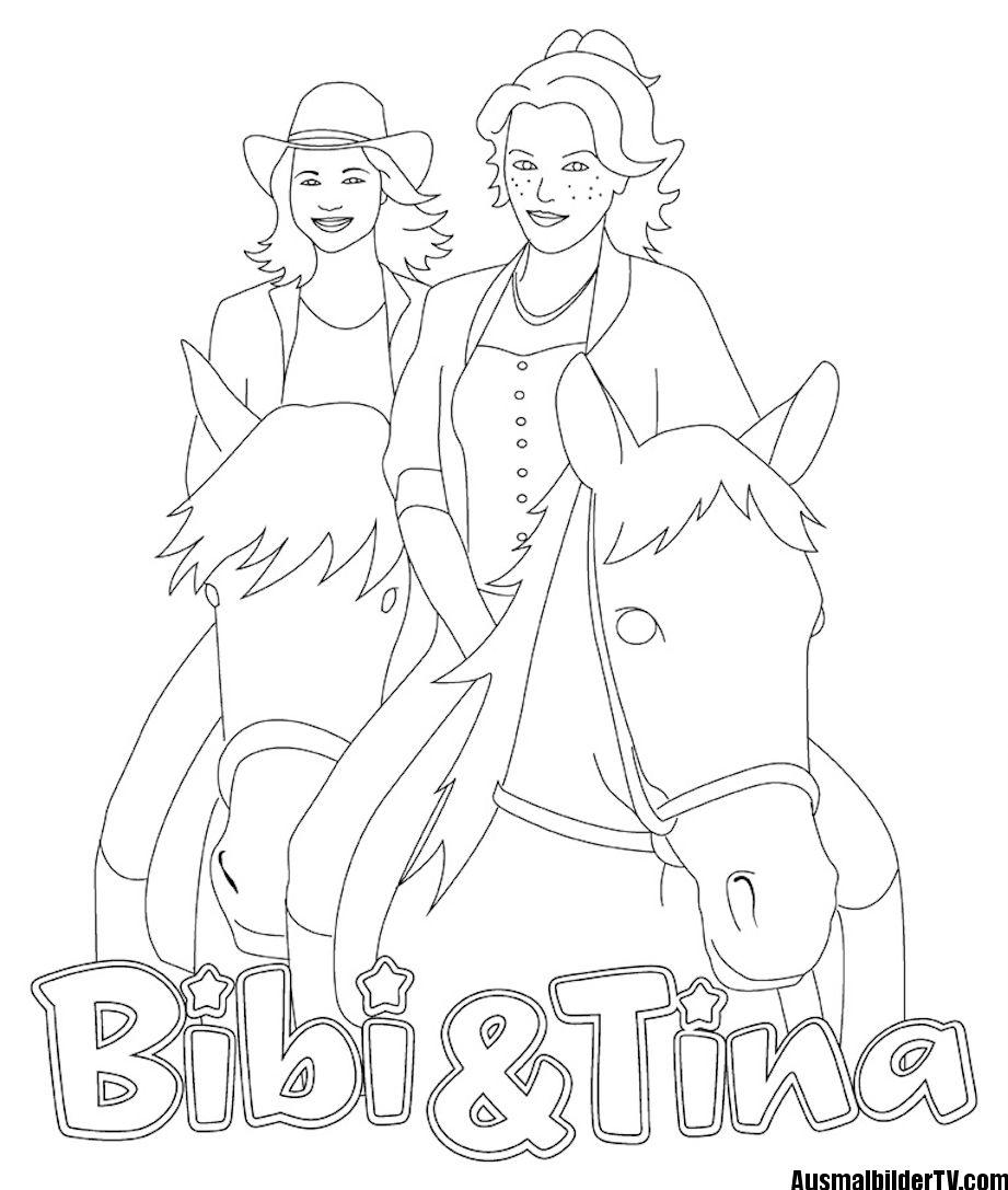 Ausmalbilder Bibi Und Blocksberg Und Tina Ausmalbilder Pinterest