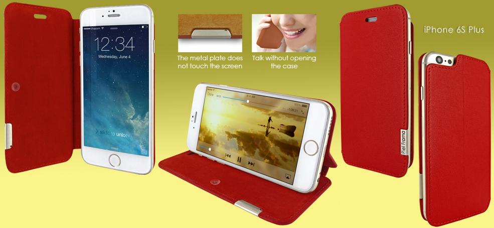 FUNDA iPHONE 6/6S PLUS FRAMASLIM VACUNO. +Colores