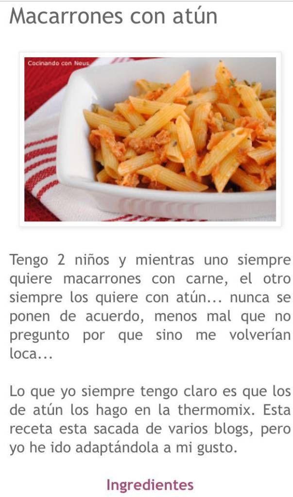 Macarrons Amb Tonyina 1 Macarrones Con Carne Macarrones Pasta