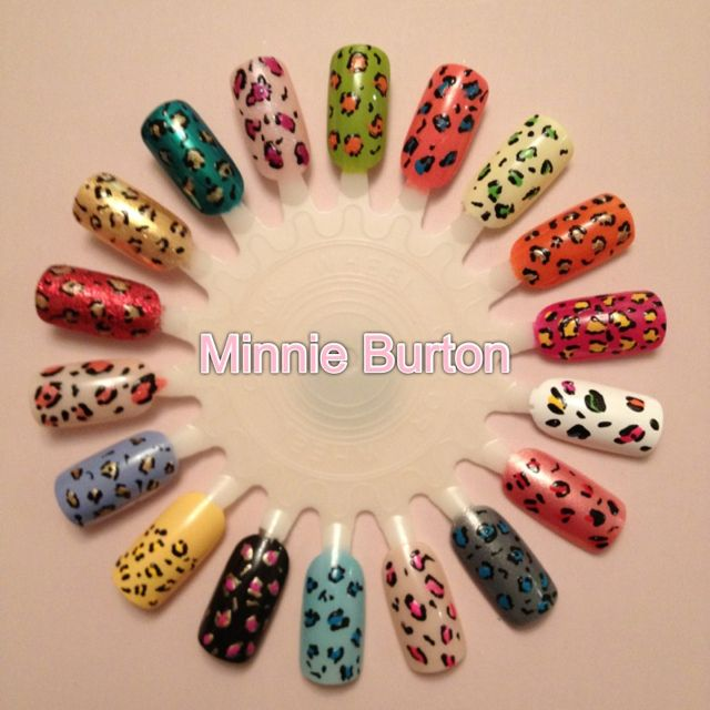 Leopard print nail art wheel | Beauty | Pinterest | Nail art wheel ...