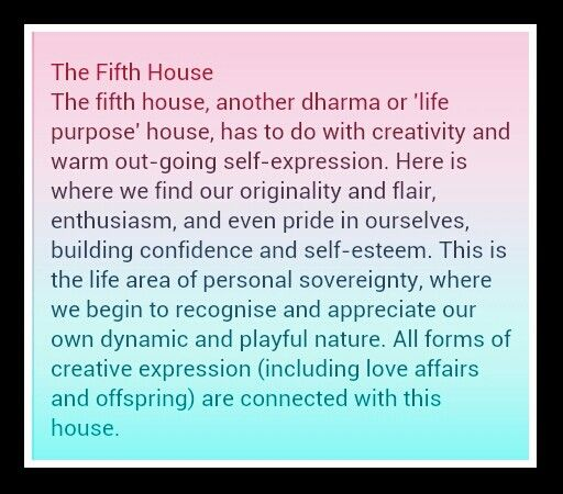 The Fifth House In Your Natal Or Birth Chart Astrological