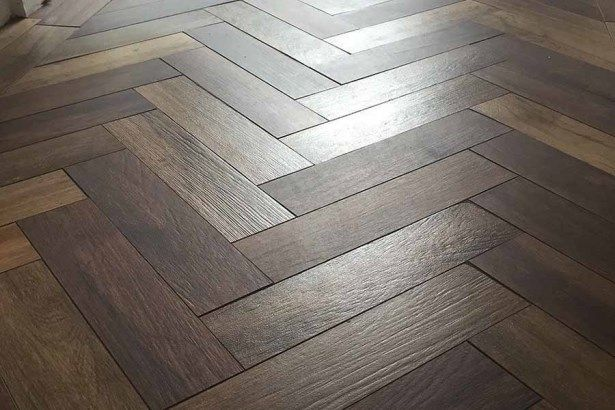 Parquet Style Porcelain Wood Effect Flooring Looks And Feels Like
