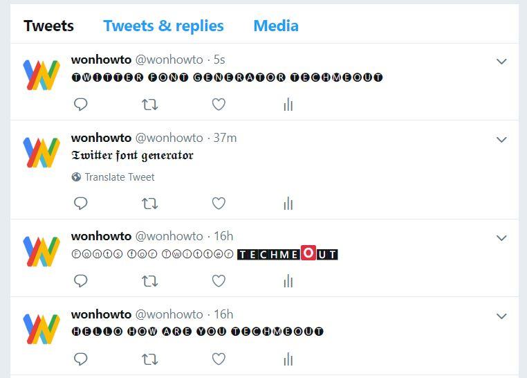 Pin On Twitter Font Generator Wonhowto Son Nguyen