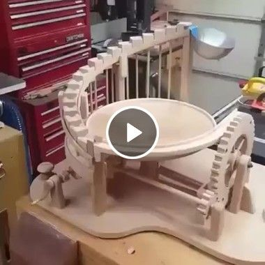 An Interesting Device Came Up With Students At The University Wood Furniture Diy Marble Machine Wood Turning Projects