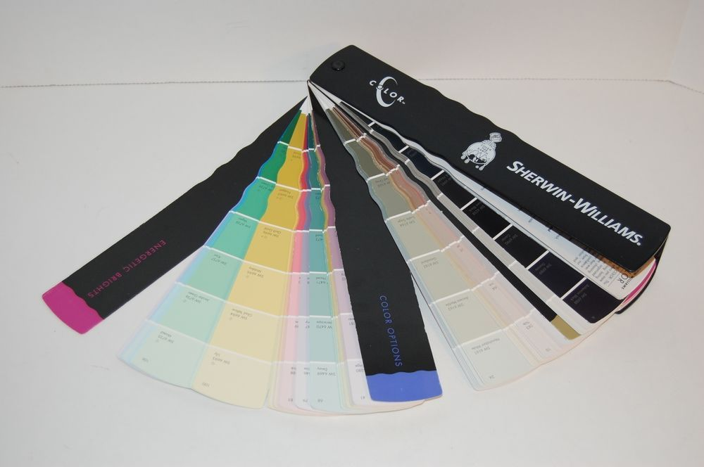 Sherwin Williams Paint Color Fan Deck Strip Samples In Plastic Case