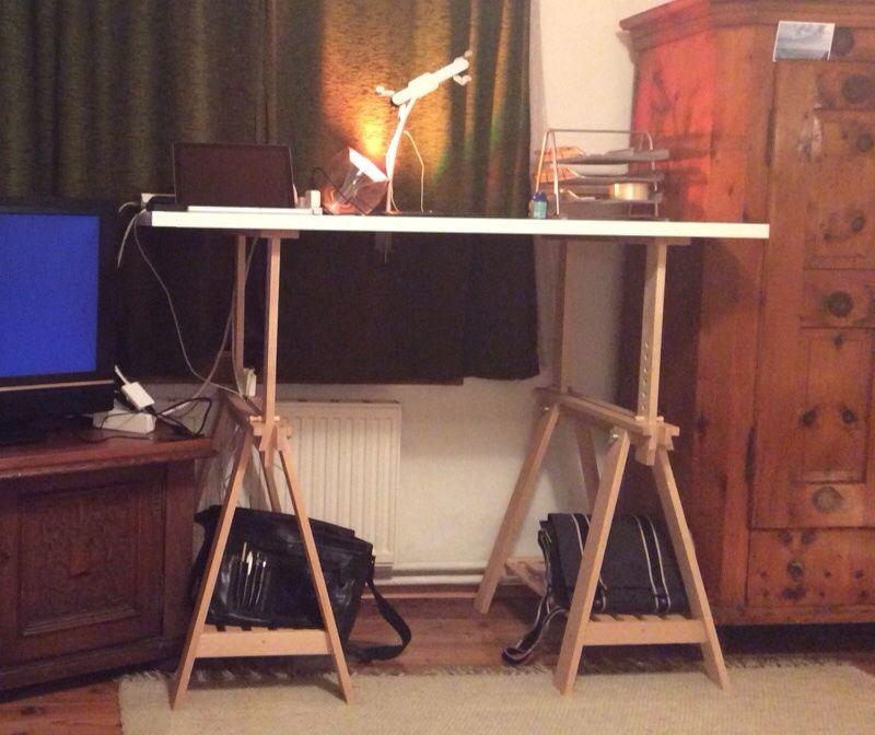Convert The Finnvard Into A Height Adjustable Standing Desk Ikea Hackers Ikea Standing Desk Adjustable Standing Desk Adjustable Standing Desk Ikea