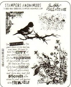 Stampers Anonymous Tim Holtz Cling Rubber Stamp Set Urban Tapestry