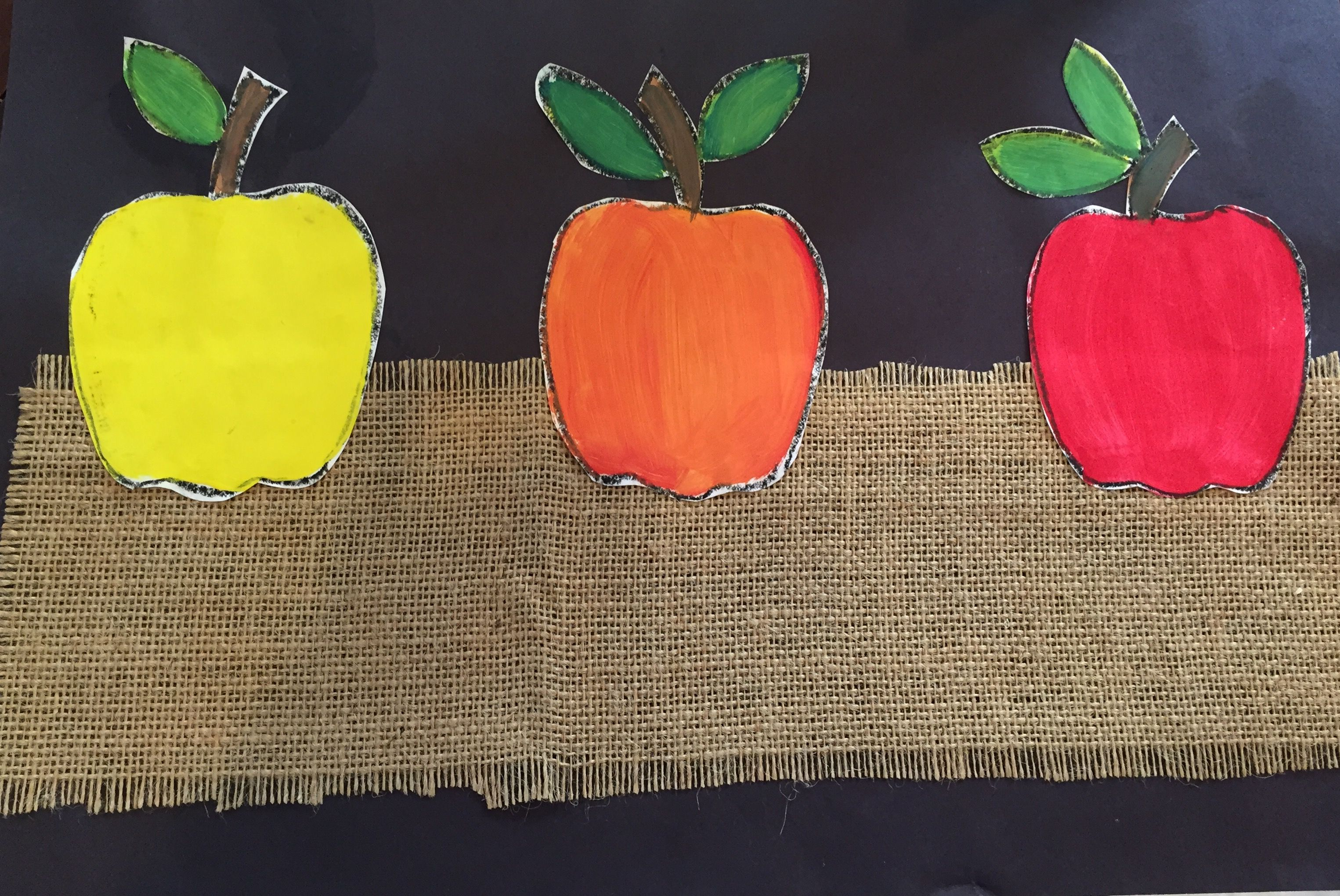 Color Theory Apples Grade 1 Sample Apple Template And Instructions Available