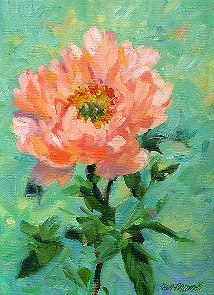Lisa palombo pinteres for Floral acrylic paintings