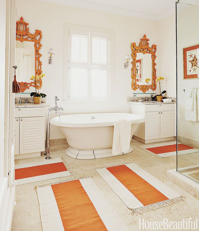 orange and white bathroom interior design amanda lindroth bahamas - Amanda Interior Design