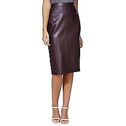 ae4087ef2 F&F Faux Leather Pencil Skirt 10 Burgundy   Shari   Faux leather ...