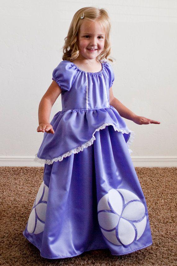 Sofia la première robe de princesse par princessandapea sur Etsy - princess halloween costume ideas
