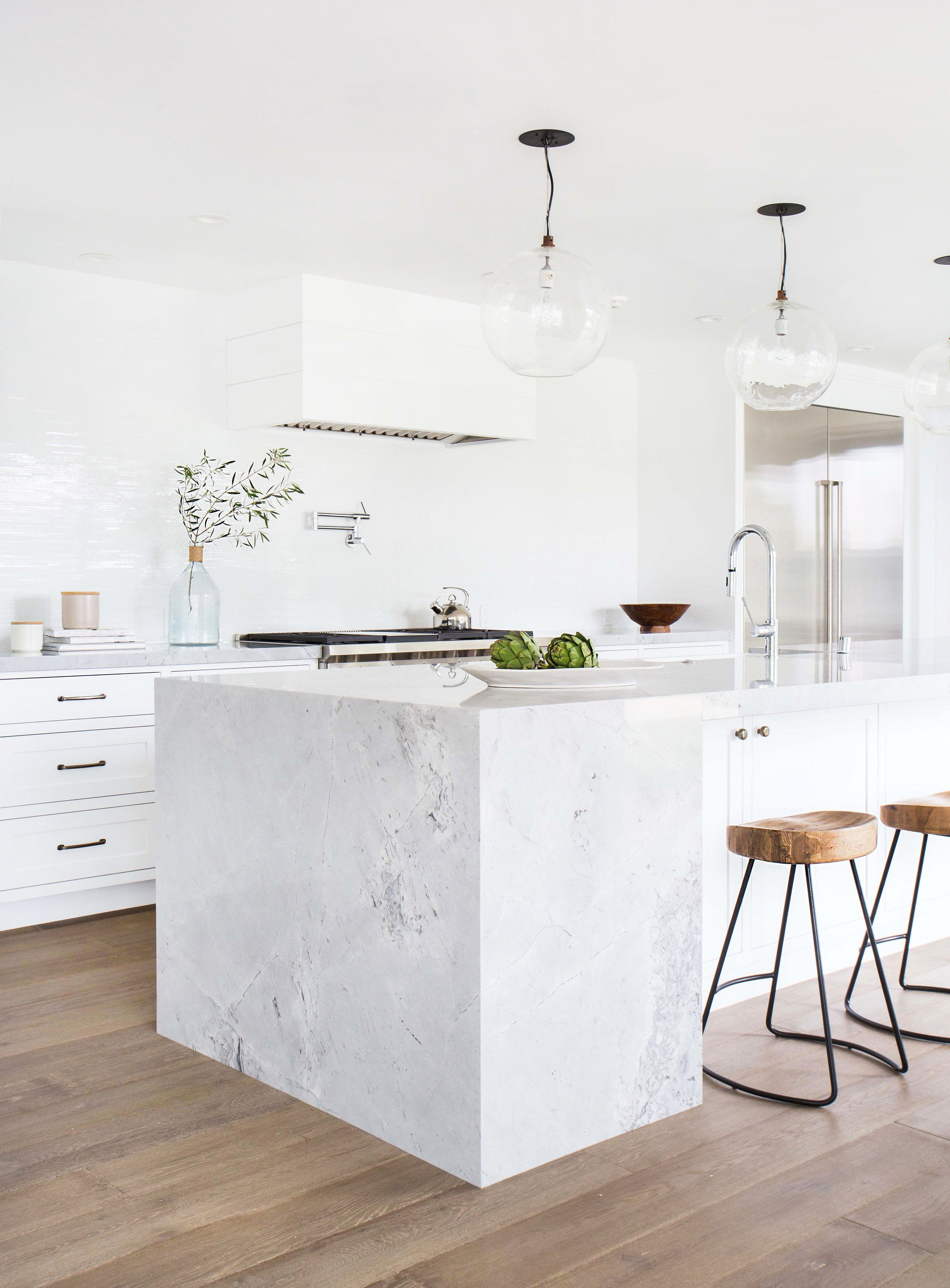 interior design by amber interiors - love the white kitchen paired ...