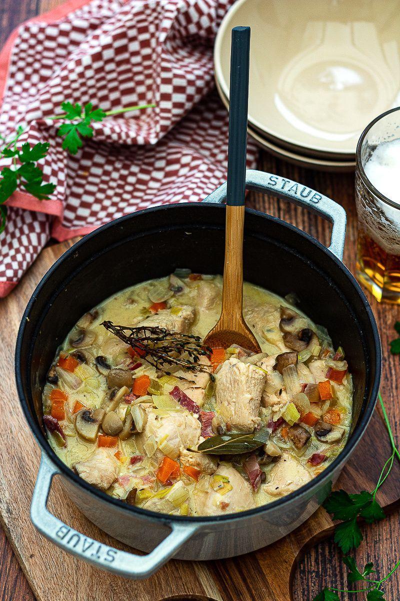 Amandine Porn Dijon blanquette of chicken with beer - amandine cooking   easy