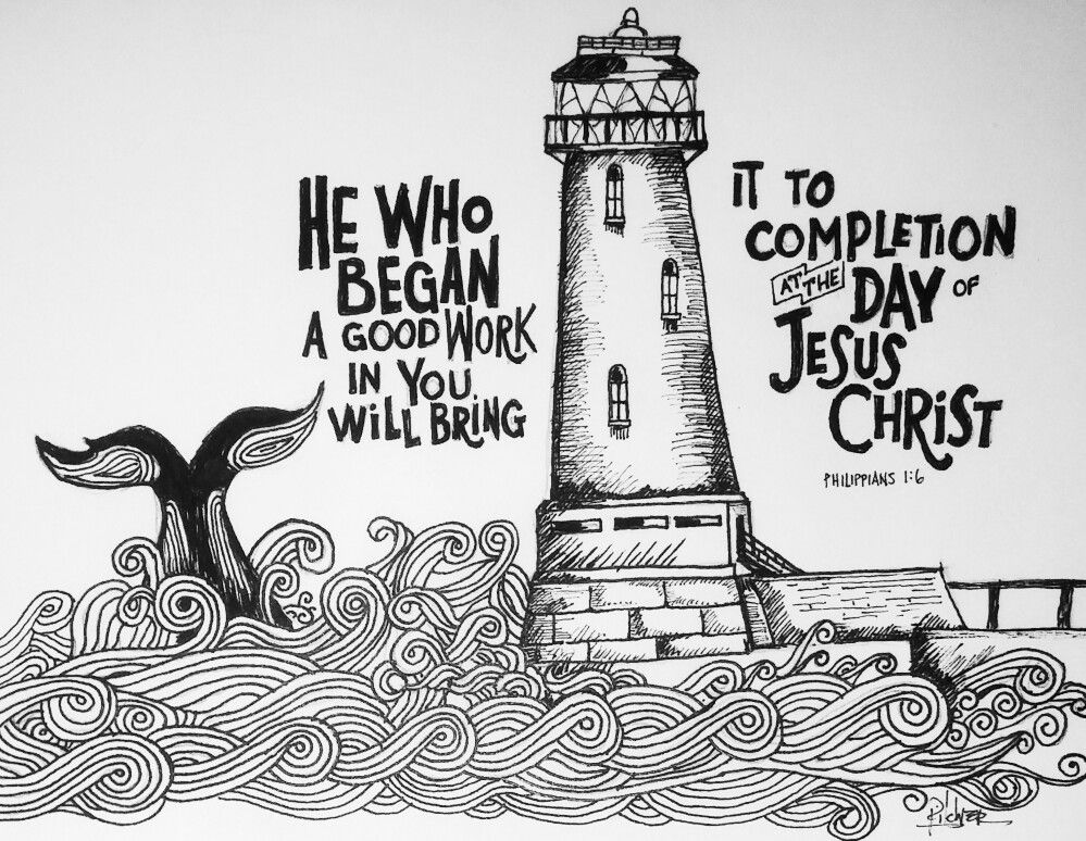 Savior Completer Philippians 1 6 30daysofbiblelettering