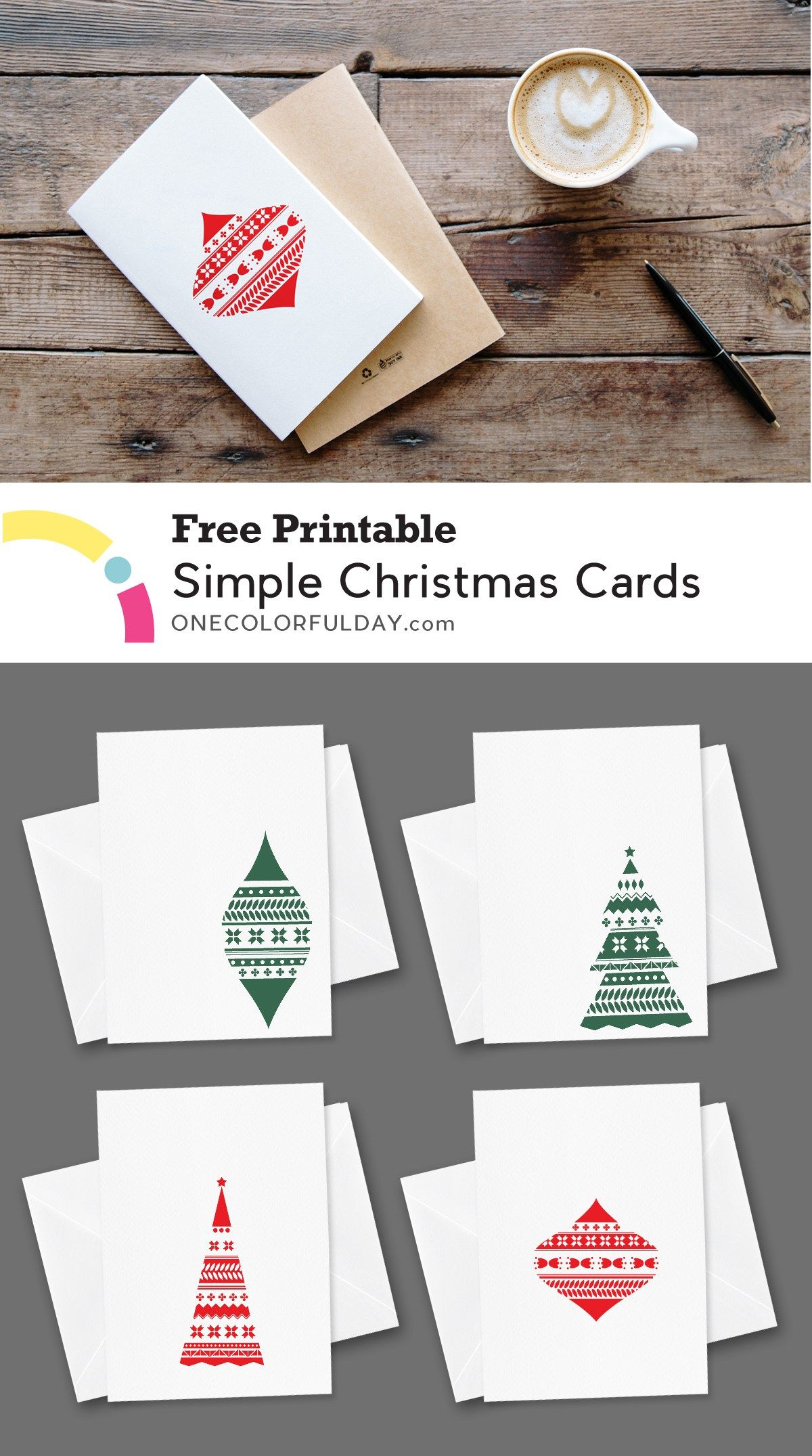 Free printable christmas cards onecolorfulday free