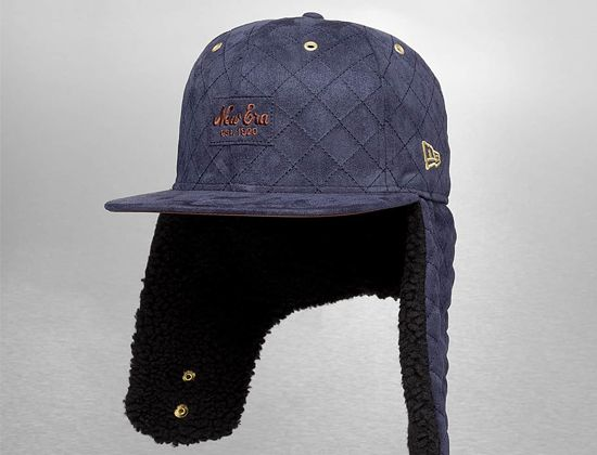 order best price factory outlets Quilted Suede Dog Ear 59Fifty Fitted Baseball Cap by NEW ERA ...
