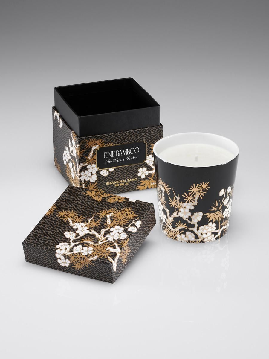 winter imperial garden candle pine bamboo chinese luxury